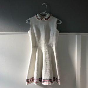 VINTAGE | white peter pan collar tennis dress